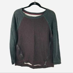 Lou & Grey Medium Purple Long Sleeve Sweatshirt